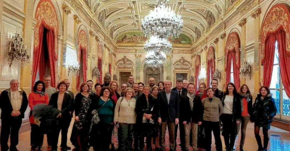 Le Club Gravelle En Visite à L'Assemblée Nationale